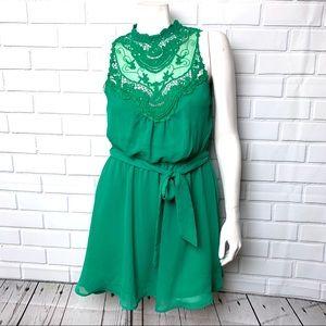 DOUBLE ZERO green dress